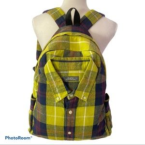 Flannel Shirt Backpack W/Pockets & Padded Straps